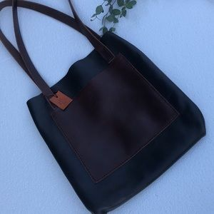 Handcrafted Leather Dark Green Hobo Tote Bag Purse